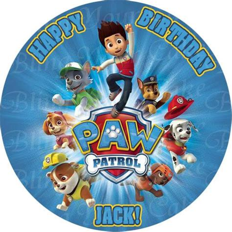paw patrol edible icing cake decor toppers pp bling