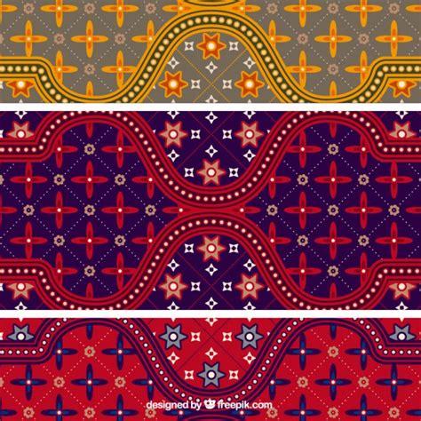 colorful batik pattern illustrator vector vector