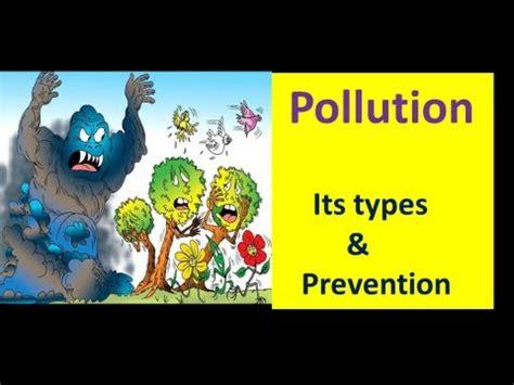 pollution  types  prevention evs lesson