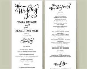 catholic wedding program templates wedding program template etsy