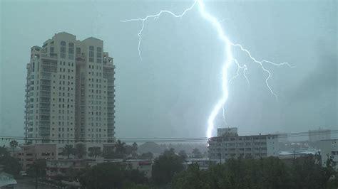 severe thunderstorms intense lightning ft lauderdale fl