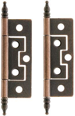 pair     mortise cabinet hinges  antique