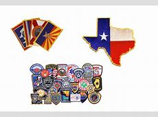Embroidered and Chenille State Patches and Country Flag