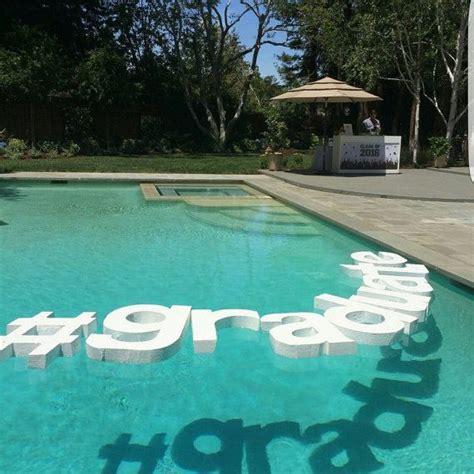 floating pool letters wedding monograms wedding  designsbydazey graduation pool parties