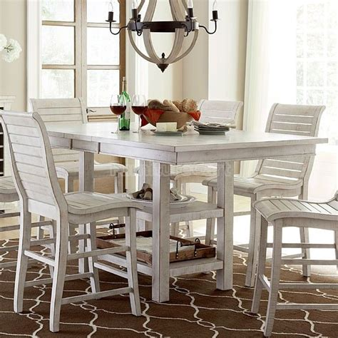 white kitchen set furniture willow rectangular counter height table distressed white