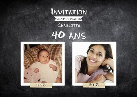 Best 25+ Invitation Anniversaire 40 Ans Ideas Only On