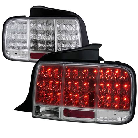 05 09 ford mustang led sequential turn signal led tail lights chrome