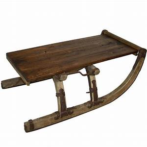 re purposed russian sleigh coffee table for sale at 1stdibs With sled coffee table