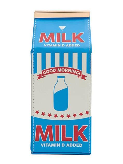 Blue Milk Carton Cross Body Bag