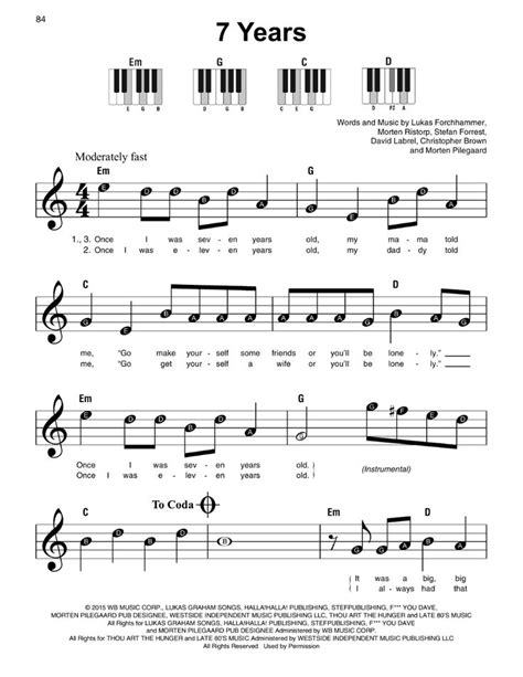 Enjoy the music notes to 'let it go' from disney's animated film frozen. 7 Years Sheet Music   Lukas Graham   Super Easy Piano in 2020   Piano sheet music letters ...