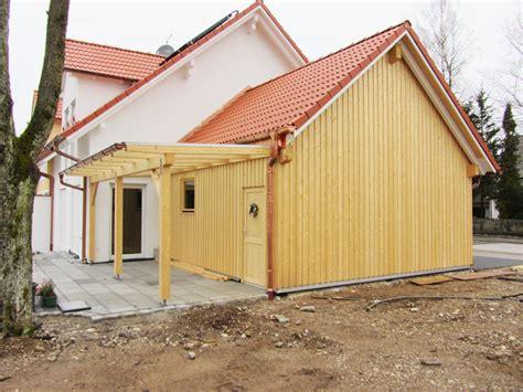 Referenz Anbau Garage Vordach 4  Zimmerei & Holzbau