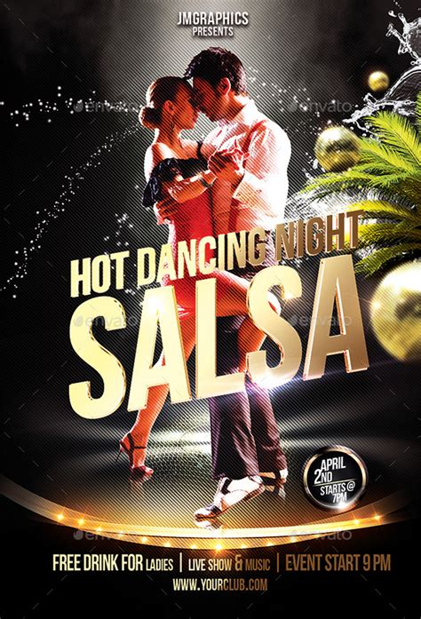 salsa flyer print template  jumaj graphicriver