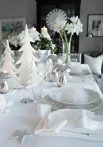 Table De Noel Blanche : inspiration decoration table noel traditionnelle toute blanche argente picslovin ~ Carolinahurricanesstore.com Idées de Décoration