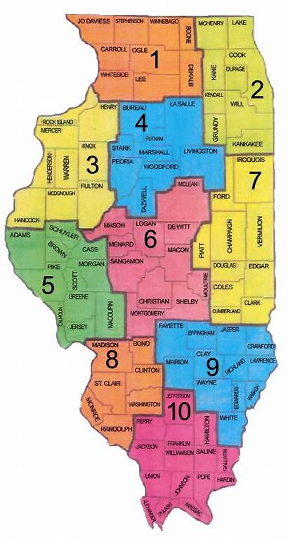 District Counties Illinois State Isaa Map Leaders