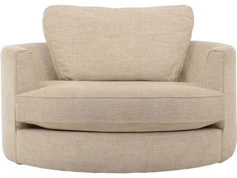 bermuda fabric swivel cuddler chair longlands
