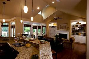 design ideas rectangle living room of great room layout With kitchen and great room designs