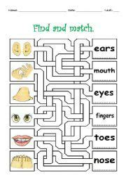 word search puzzle body parts   word search