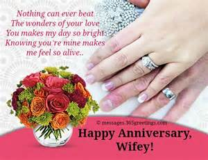 Wedding Anniversary Wife Messages