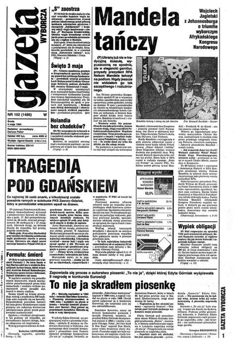 Gazeta wyborcza (04/05/1994) • Prasa • Edyta Górniak ...