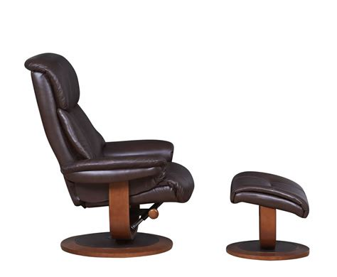 chingford brown bonded leather swivel chair and foot stool