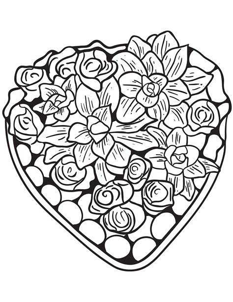 hearts coloring pages  adults  coloring pages