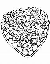 Coloring Hearts Heart Pages Adults Flowers Valentines Print Patterns Printable Flower Quilling Supercoloring Activity Colorings sketch template