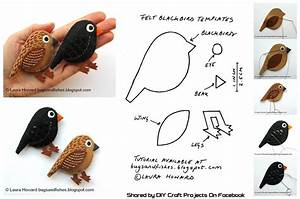DIY Make a Pair of Felt Blackbirds - DIY Craft Projects