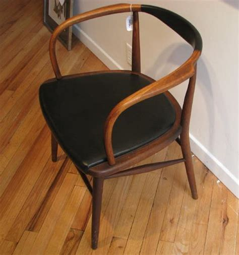 mid century modern bent wood arm chair