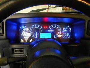 Mustang Digital Instrument Cluster Carbon Face  Blue