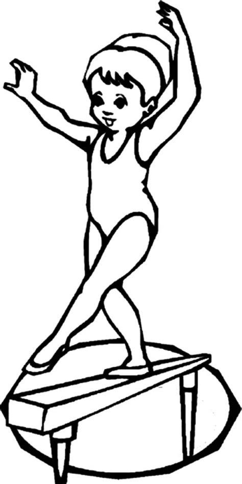 gymnastics coloring pages  printable ue