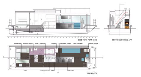 Houseboat Layout by Houseboat Sea 7 Design