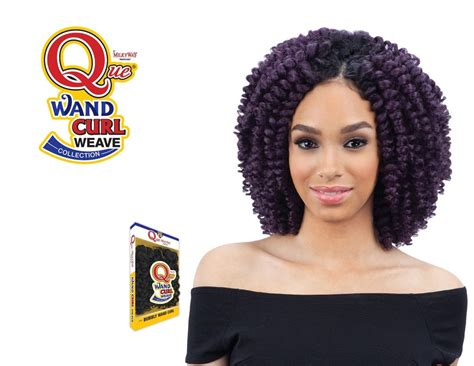 Milkyway Que Human Hair Mix Wand Curl Weave Swirly Wand Curl