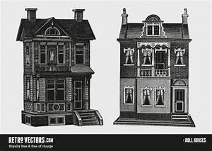 Two Doll Houses | Free Retro Vectors Vector | Free Download