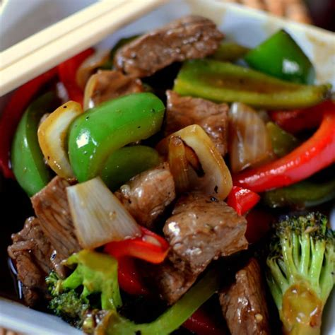 beef stir fry spicy beef with bell peppers recipe dishmaps