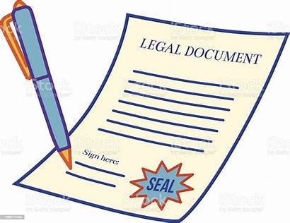 Document Legal Vector Illustrations Law Sign Lawyer