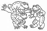 Coloring Frogs Pages Print Funny Children Printable Animals Justcolor sketch template
