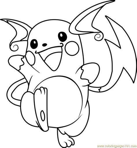 raichu pokemon coloring page  pokemon coloring pages
