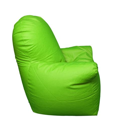 pebbleyard with arms green bean bag chair with beans