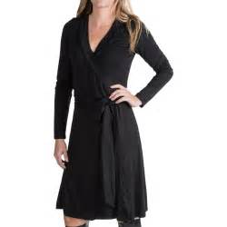 black long sleeve wrap dress images