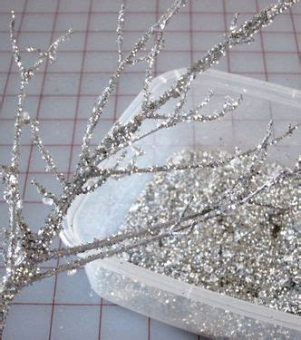 diy sparkle branches christmas baby shower silver