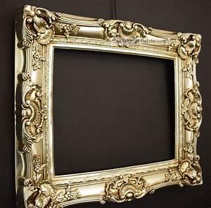 Bilderrahmen 50 X 40 : bilderrahmen barock rokoko stil 40 x 50 cm 60x70 cm silber vintage barockrahmen ~ Yasmunasinghe.com Haus und Dekorationen