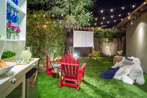 Brats, of course, are always a good choice. How to Make an Easy Outdoor Movie Screen | HGTV