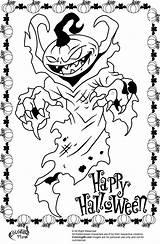 Scary Coloring Halloween Pumpkin Monster Creepy Drawing Ausmalbilder Coloriage Coloriages Demon Printable Colorier Nouveaux Konabeun Colors Pumpkins Creature Happy sketch template