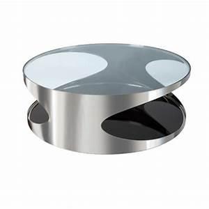 Table Basse Ronde Verre : salon inspiration de jardin ~ Teatrodelosmanantiales.com Idées de Décoration