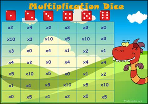 multiplication tables interactive games multiplication dice game a printable times table game