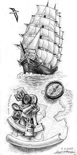 Pirate ship tattoo semper ad meliora | Tattoos I love