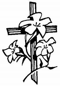 Easter Lily Clipart Black And White - ClipartXtras