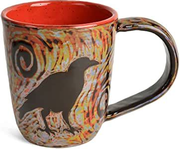 A special thank you to nancy marenger pottery for creating such gorgeous handmade pottery mugs! Amazon.com | John Hutson Pottery Raven Mug, Red/Multi: Coffee Cups & Mugs