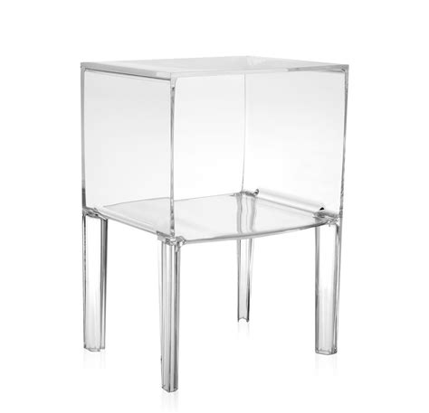 kartell table de chevet small ghost buster cristal pmma