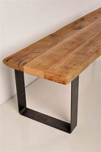 Metal And Woods : reclaimed barn wood and industrial metal bench ~ Melissatoandfro.com Idées de Décoration